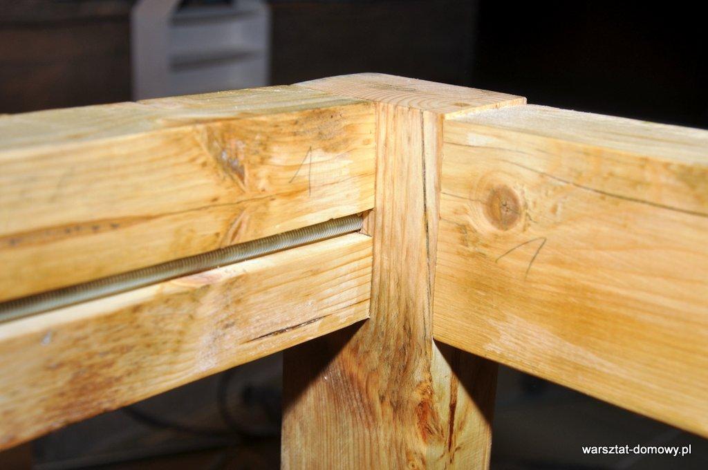 Stabilny stół warsztatowy - montaż podstawy