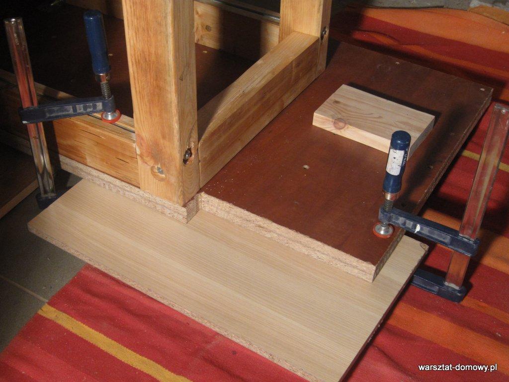 Instalacja imadła czołowego do stołu warsztatowego