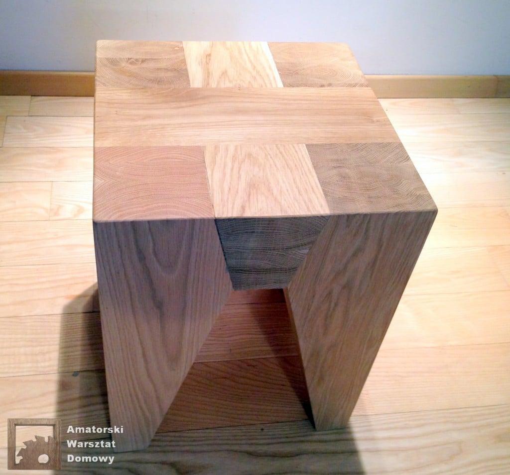 IMG 5709 1024x955 Dębowy stołek według projektu pani Joanny
